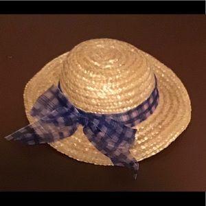 American Girl Doll Periwinkle Dress Hat vintage